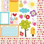 Bella Blvd - Sunshine and Happiness Collection - 12 x 12 Double Sided Paper - Cute Cuts