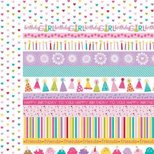 Bella Blvd - Birthday Girl Collection - 12 x 12 Double Sided Paper - Borders