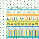 Bella Blvd - Birthday Boy Collection - 12 x 12 Double Sided Paper - Borders