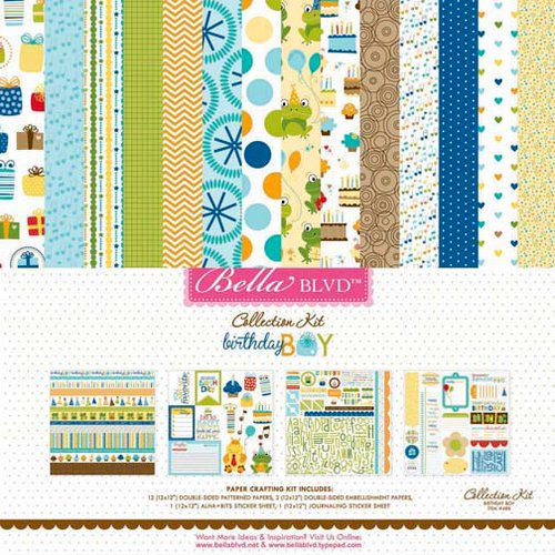 Bella Blvd - Birthday Boy Collection - 12 x 12 Collection Kit