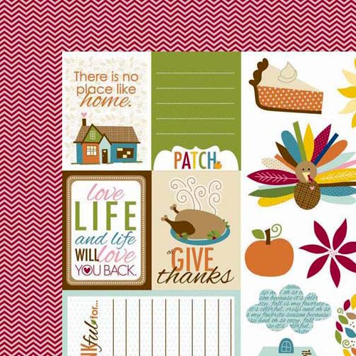 Bella Blvd - Thankful Collection - 12 x 12 Double Sided Paper - Cute Cuts