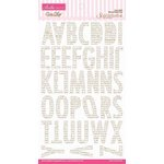 Bella Blvd - Sophisticates Collection - Ciao Chip - Self Adhesive Chipboard - Sienna Alphabet - Pony