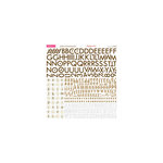 Bella Blvd - Sophisticates Collection - 12 x 12 Cardstock Stickers - Alphabet - Brown-Cream