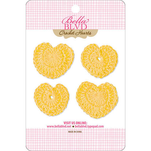 Bella Blvd - Sophisticates Collection - Crochet Hearts - Bell Pepper