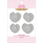 Bella Blvd - Sophisticates Collection - Crochet Hearts - Scallop