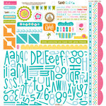 Bella Blvd - Sand and Surf Collection - 12 x 12 Cardstock Stickers - Alphabet and Bits