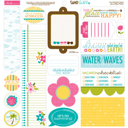 Bella Blvd - Sand and Surf Collection - 12 x 12 Cardstock Stickers - Just Write