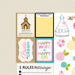 Bella Blvd - Love and Marriage Collection - 12 x 12 Double Sided Paper - Cute Cuts