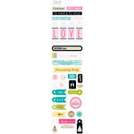 Bella Blvd - Love and Marriage Collection - Cardstock Stickers - Miniatures - Wedding Day