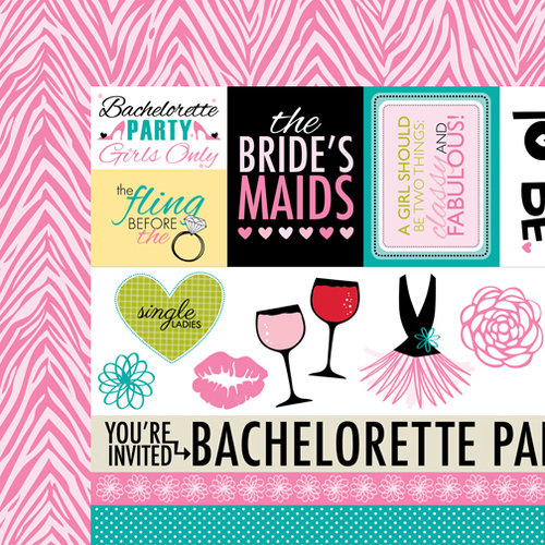 Bella Blvd - Engaged At Last Collection - 12 x 12 Double Sided Paper - Bachelorette Extras