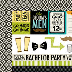 Bella Blvd - Engaged At Last Collection - 12 x 12 Double Sided Paper - Bachelor Extras