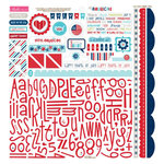 Bella Blvd - All American Collection - 12 x 12 Cardstock Stickers - Alphabet and Bits