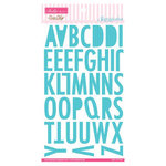 Bella Blvd - All American Collection - Ciao Chip - Self Adhesive Chipboard - Sienna Alphabet - Ice