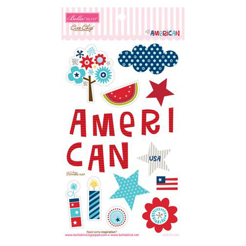 Bella Blvd - All American Collection - Ciao Chip - Self Adhesive Chipboard - Icons