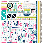 Bella Blvd - Snapshots Collection - 12 x 12 Cardstock Stickers - Alphabet and Bits
