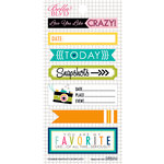 Bella Blvd - Snapshots Collection - Cardstock Stickers - Bookplates