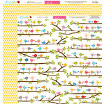 Bella Blvd - Play Date Collection - 12 x 12 Double Sided Paper - Little Birdie