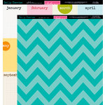 Bella Blvd - Daily Chevies and Everyday Bits Collection - 12 x 12 Double Sided Paper - Chevy - Gulf