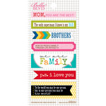Bella Blvd - Daily Chevies and Everyday Bits Collection - Cardstock Stickers - Bookplates - We are Family