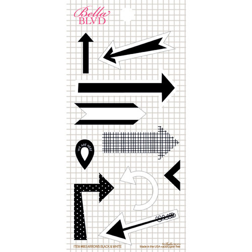 Bella Blvd - Daily Chevies and Everyday Bits Collection - Cardstock Stickers - Arrows - Black and White