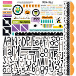 Bella Blvd - Trick or Treat Collection - Halloween - 12 x 12 Cardstock Stickers - Alphabet and Bits