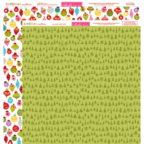Bella Blvd - Christmas Countdown Collection - 12 x 12 Double Sided Paper - Tree Park