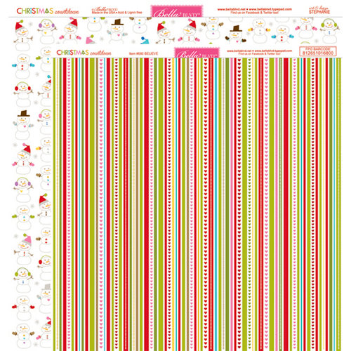 Bella Blvd - Christmas Countdown Collection - 12 x 12 Double Sided Paper - Believe