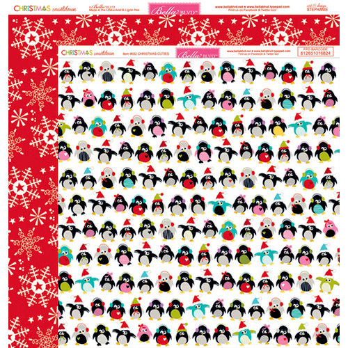 Bella Blvd - Christmas Countdown Collection - 12 x 12 Double Sided Paper - Christmas Cuties