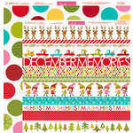 Bella Blvd - Christmas Countdown Collection - 12 x 12 Double Sided Paper - Borders