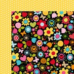 Bella Blvd - Summer Squeeze Collection - 12 x 12 Double Sided Paper - Wildflower
