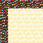 Bella Blvd - Summer Squeeze Collection - 12 x 12 Double Sided Paper - Pocket Full of Posies
