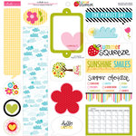 Bella Blvd - Summer Squeeze Collection - 12 x 12 Cardstock Stickers - Just Write