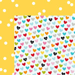 Bella Blvd - Scattered Sprinkles Collection - 12 x 12 Double Sided Paper - Bell Pepper Sprinkles