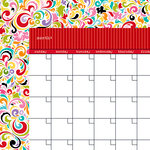 Bella Blvd - Classic Calendars Collection - 12 x 12 Double Sided Paper - McIntosh Calendar