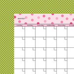 Bella Blvd - Classic Calendars Collection - 12 x 12 Double Sided Paper - Peep Calendar