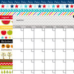 Bella Blvd - Classic Calendars Collection - 12 x 12 Double Sided Paper - Oyster Calendar and Borders Two