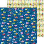 Bella Blvd - Tiny Tots Collection - 12 x 12 Double Sided Paper - One Fish Two Fish