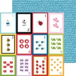 Bella Blvd - Tiny Tots Collection - 12 x 12 Double Sided Paper - Flashcards YZ123