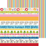 Bella Blvd - Tiny Tots Collection - 12 x 12 Double Sided Paper - Borders