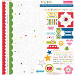 Bella Blvd - Tiny Tots Collection - 12 x 12 Cardstock Stickers - Treasures and Text