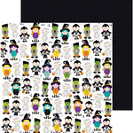 Bella Blvd - Halloween Magic Collection - 12 x 12 Double Sided Paper - Boo Buddies