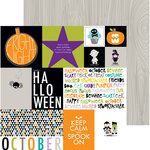 Bella Blvd - Halloween Magic Collection - 12 x 12 Double Sided Paper - Daily Details