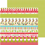 Bella Blvd - Christmas Cheer Collection - 12 x 12 Double Sided Paper - Borders