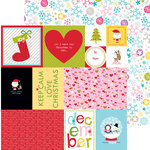 Bella Blvd - Christmas Cheer Collection - 12 x 12 Double Sided Paper - Daily Details