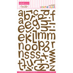Bella Blvd - Amorie Alpha Collection - Ciao Chip - Self Adhesive Chipboard - Brownie