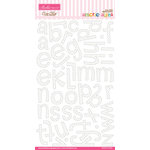 Bella Blvd - Amorie Alpha Collection - Ciao Chip - Self Adhesive Chipboard - White