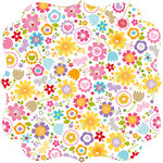 Bella Blvd - Simply Spring Collection - Invisibles - 12 x 12 Die Cut Paper - Awesome Blossom