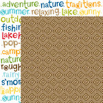 Bella Blvd - Campout Collection - 12 x 12 Double Sided Paper - Trail Mix