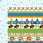 Bella Blvd - Campout Collection - 12 x 12 Double Sided Paper - Borders