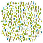 Bella Blvd - Campout Collection - Invisibles - 12 x 12 Die Cut Paper - Woodlands